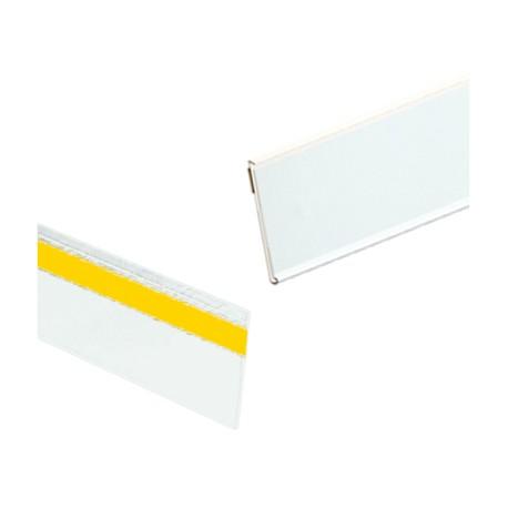 PROFILI ADESIVO porta Frontalini IN PLASTICA PER SCAFFALI H. 40 BARRA DA MM.988