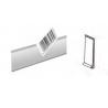 Profili Adesivi Porta Frontalini in Plastica per Scaffali H. 40 Barra da 1,318