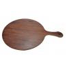 Tagliere Circolare ad effetto legno con Manico
