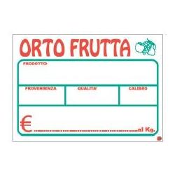 Segnaprezzi PVC Ortofrutta Bianco Stampato