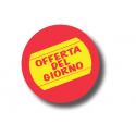 """Rotolo Etichette Tonde """"OFFERTA DEL GIORNO"""""""
