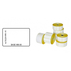 ROTOLO DA 1000 ETICHETTE MM.60 X 45 Bianche Bilancia