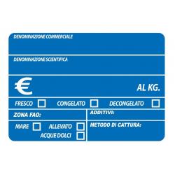 Segnaprezzi PVC Pescheria Blu Stampato