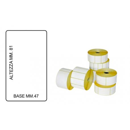Rotolo da 750 Etichette MM.47 X 81 Foro 40
