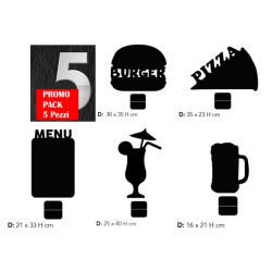Kit 5 Lavagnette da Tavolo