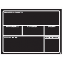 Lavagna Forex per Ortofrutta A5 210 X 148 H Tracciabilità Prodotto