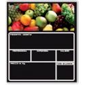 Lavagna Forex Extra per Frutta Tracciabilià Prodotto 210x200 H. mm.